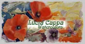 A cutting from Poppies Sinfonia a watercolor by Lucia Cappa